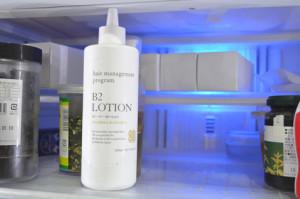 育毛剤と冷蔵庫